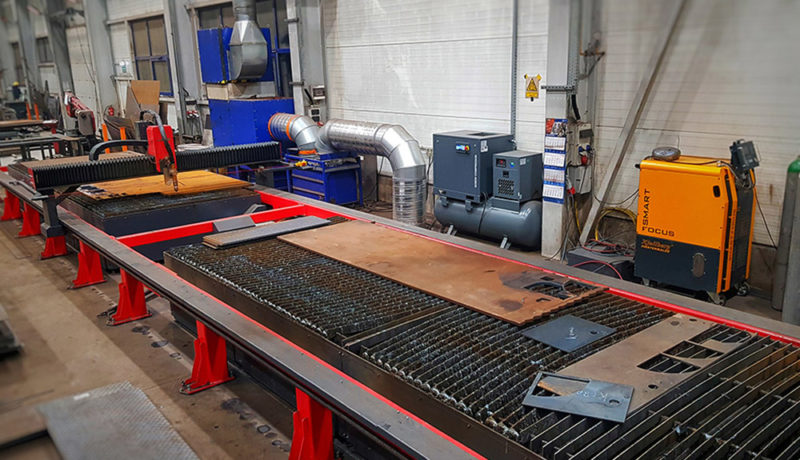 Production of steel structures and reloading systems
